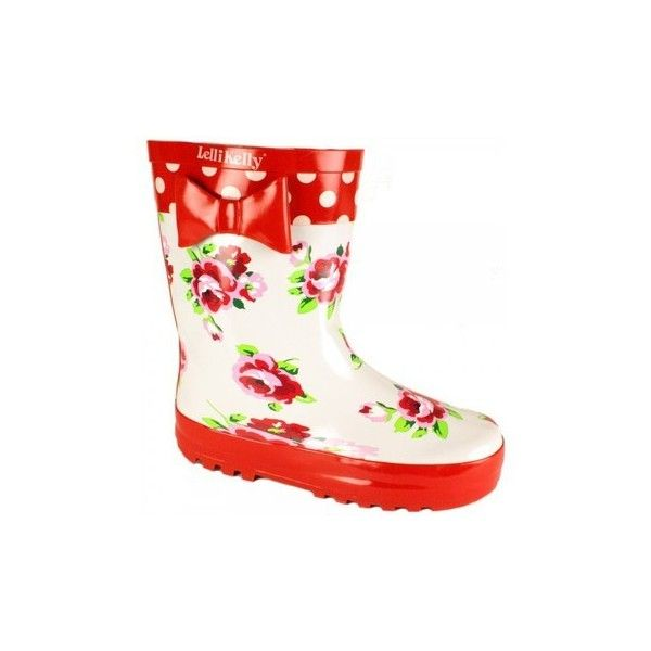 M Lelli Kelly Kids Red Rain Lk8850 Wellies Wellington Boots ($31) ❤ liked on Polyvore