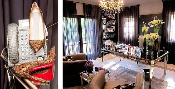 Khloe Kardashian Home Office Details W O R K S P A C E