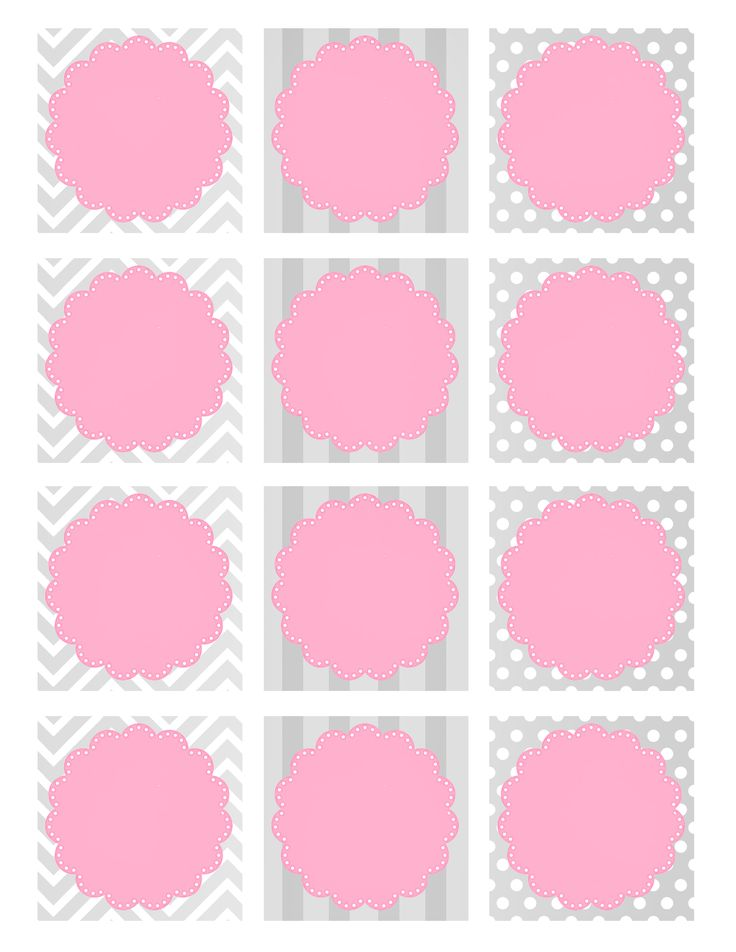 158 best templates images on Pinterest Bricolage, Circle labels - Free Baby Shower Label Templates