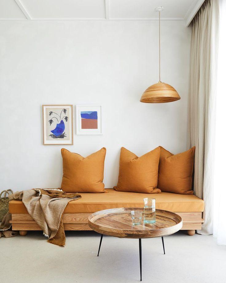 Terracotta Sofa Pillows Scandinavian Design Living Room Apartment Interior Apartment Interior Design
