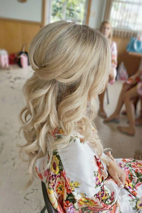 Half up half down curl hairstyles partial updo wedding half up half down curl hairstyles partial updo wedding hairstylespartial updo bridal hairstyles a junglespirit Image collections