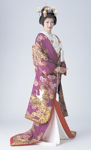 A different kind of beauty; the traditional Japanese kimono.