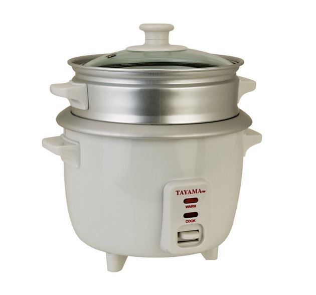 Tayama 3 Cup Rice Cooker with Steamer - White #Tayama