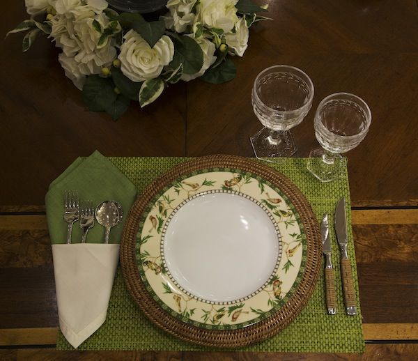 Arrumação de mesa informal / casual table setting