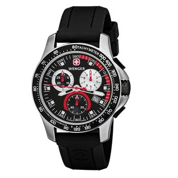 Wenger Swiss Military 70792 Battalion Chrono Sport Collection Swiss Made Chronograph Sapphire Coated Crystal Black Dial Rubber Strap 100M Mens Watch $ 129+ SHIPPING  http://go.sharkstores.com/wenger717