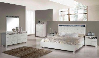 Evo - Modern Ambient White Bedroom Set - http://www.furnishedup.com/bedroom/beds/evo-modern-ambient-white-bedroom-set.html