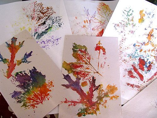 We love making Leaf Prints - from Nat­u­rally Educational