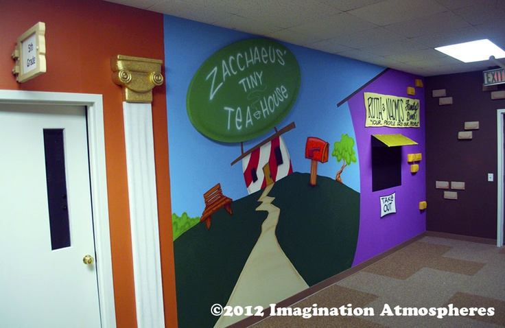 Cartoon Bible Village, Vineville UMC, Macon, GA  www.imaginationatmospheres.com