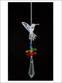 Suncatcher van kristal met kolibrie.
