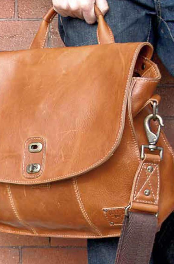 Will Leather Goods Messenger Bags--Monogrammed for Free-- from Dann Clothing, Intl Shipments, All Leather, Vintage Lock Collection Bags, Kent Messenger, Douglas Messenger