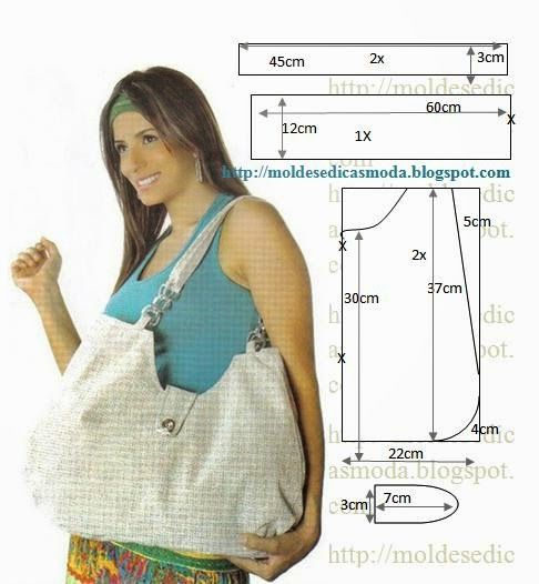 A lot of free patterns for purses, totes & bags. Moldes Moda por Medida: SACOS COM MEDIDAS