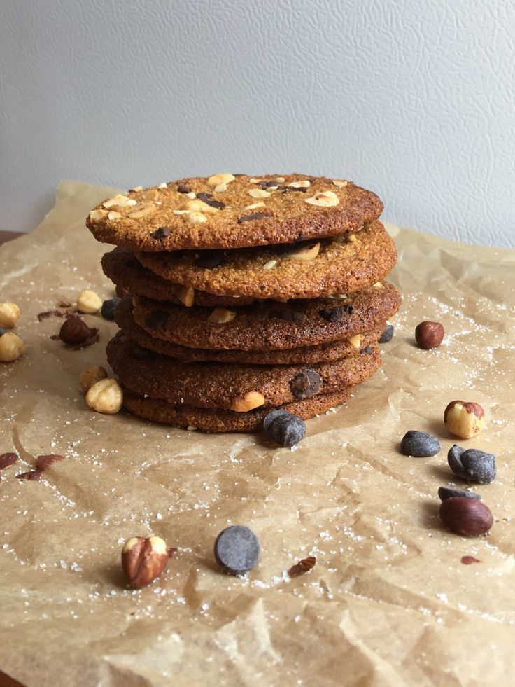 Himalayan salted dark chocolate and hazelnut cookies.  I would say these are more to the chewy side but if baked a little longer will become crispy! Healthy, super delicious and very easy to make. Wholefood recipe that will nourish you and definitely satisfy your tastebuds.