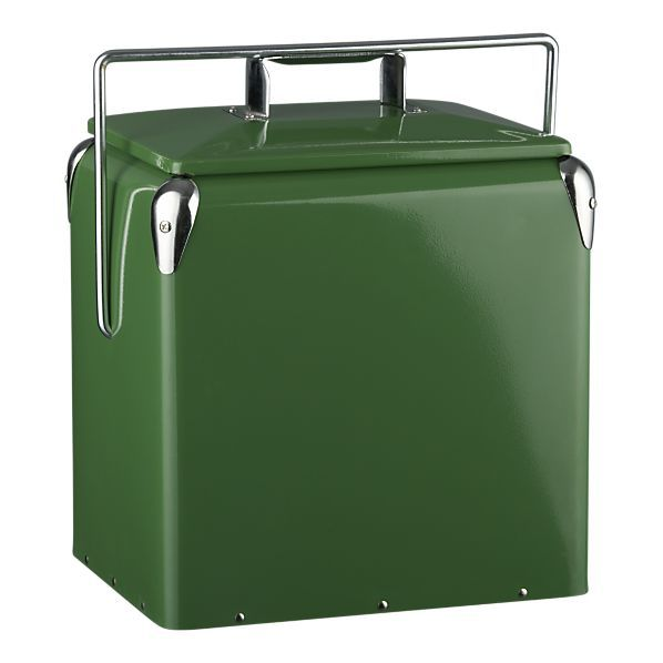 Retro metal cooler from Crate & Barrel $49.95