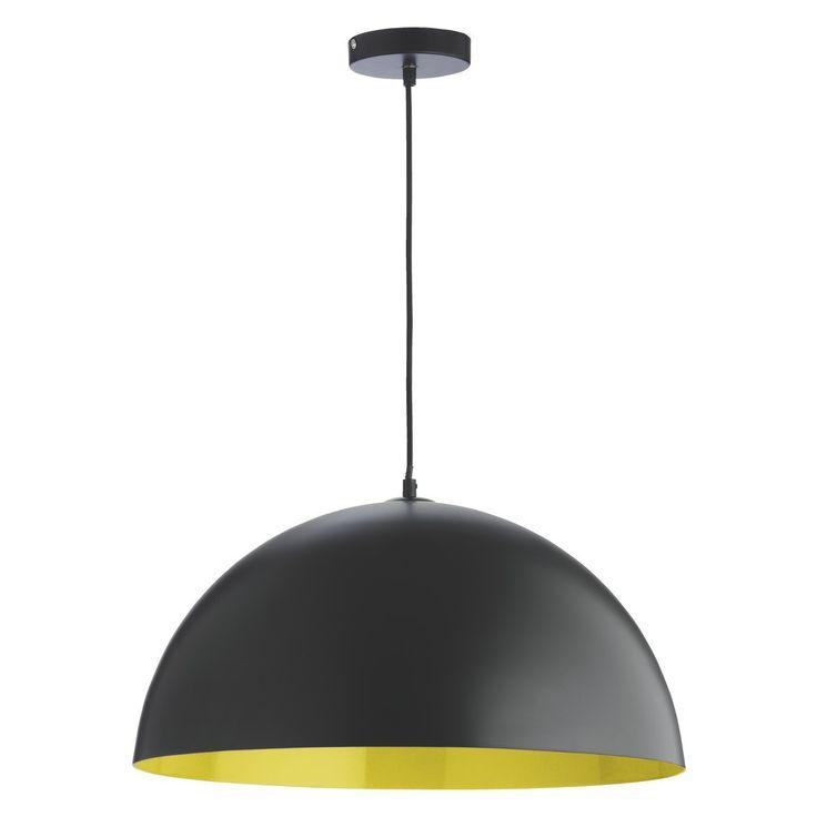 Yellow Metal Pendant Light