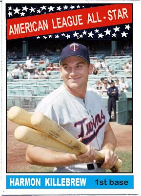 1966 Topps Harmon Killebrew All Star, Minnesota Twins, Baseball Cards That Never Were.