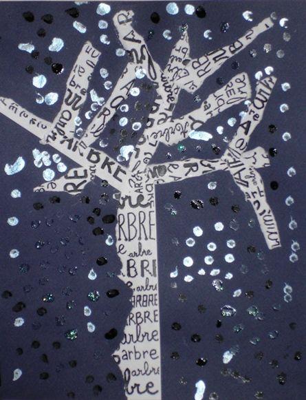 arbre papier déchiré