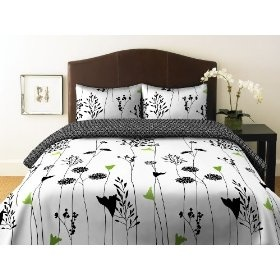 #1: Perry Ellis, Asian Lily Collection, Duvet Set, Full/Queen.