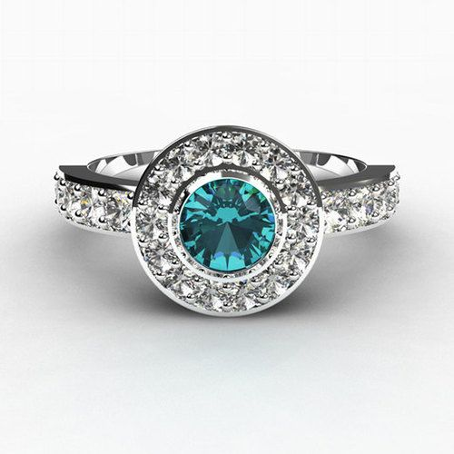 someday I dream to have a piece of jewelery with a blue diamond in it
