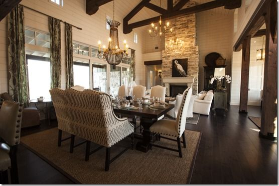 Open Concept Living Dining Space Southern Living Showcase