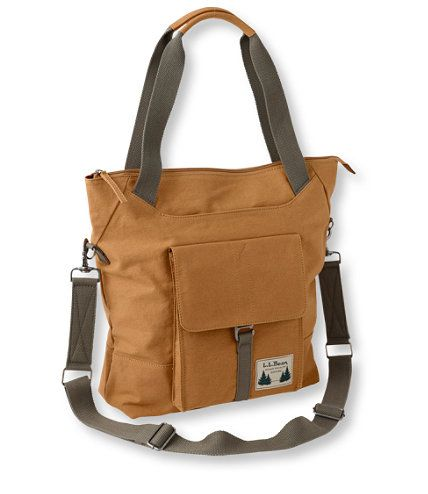 Field Canvas Tote Bag   Free Shipping at L.L.Bean  -  long strap plus handles.  like their field coats.  want!     lj