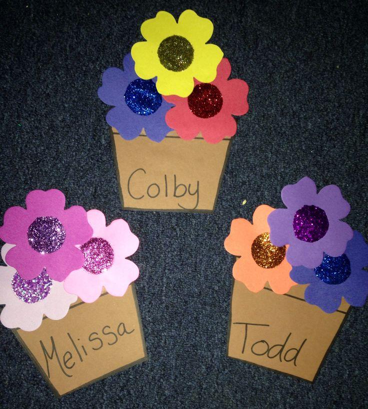 Grow in your community: flower pot door decs #reslife #ra #doordecs