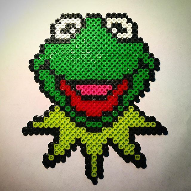 Kermit The Frog Perler Beads By Rabidperler