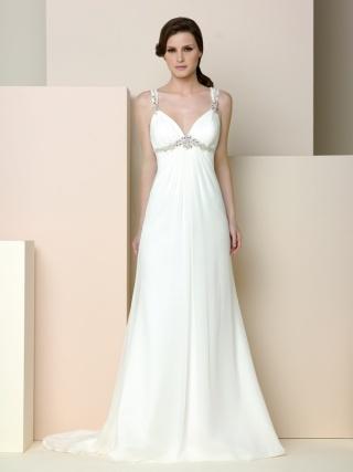Details about new stock white ivory chiffon wedding for Greek style wedding dress