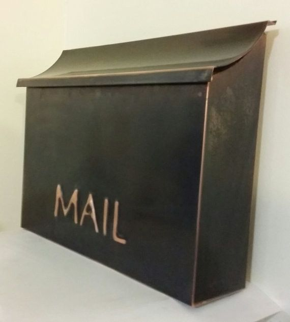 Flush Mount Patina Copper Mailbox