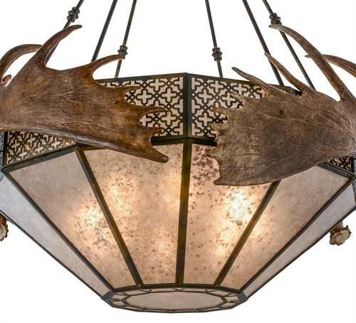 Our Large Rustic Antler Light Fixtures Are Made With Natural Shed Moose Antlers