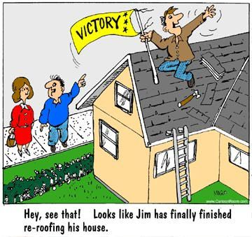 He is done with re-roofing how about you?  sc 1 st  Pinterest & 84 best Roofing Fun images on Pinterest | Jokes Funny cartoons ... memphite.com
