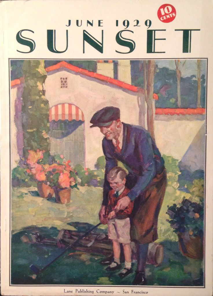 Sunset Magazine June 1929 Golf Cover