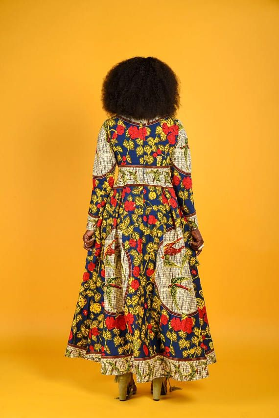VERKOOP Blossom-blad lange mouwen hoog  laag jurk