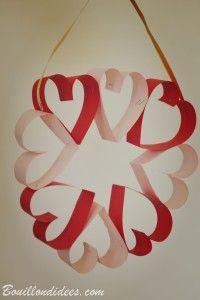 DIY fête des mères - mamies, st Valentin : couronne de coeurs
