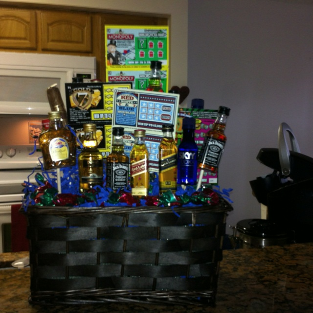 Man Birthday Gift Basket Made This For The Hubby Gift