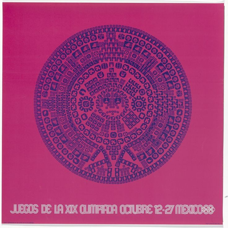 Lance Wyman and Jan Stornfelt / Department of Publications and Urban Design, poster for the 1968 Mexico City Olympic Games, Postage stamp, 1968