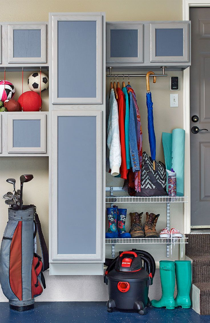 Garage style kitchen cabinets - Turn Unfinished Kitchen Cabinets Into Colorful Customized Storage For Your Garage Lowe S