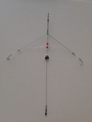 """Bottom fishing rig 15"""" tall with 5"""" arms"""