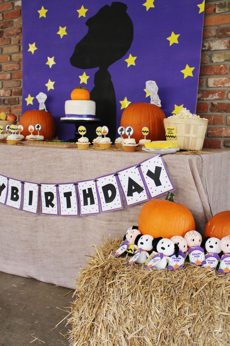 16 best Great Pumpkin Charlie Brown Party Ideas/ Peanuts Party ...