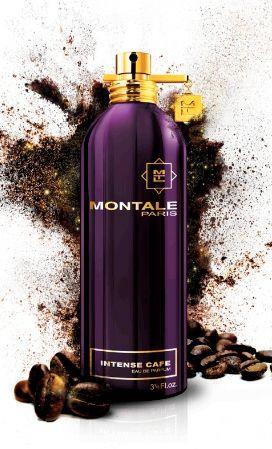 Intense Cafe MONTALE. Intensywna, ciemna nuta wyrafinowanej palonej kawy, połączona z ziarnami kakao. Miękkości kompozycji nadają płatki róż i kremowa ambra. Zapach apetyczny i pobudzający! Rodzina zapachowa: orientalna #montale