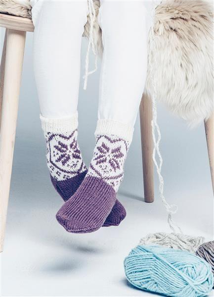 Tema 42: Modell 23a Hjerte sokker #strikk #knit #sisu