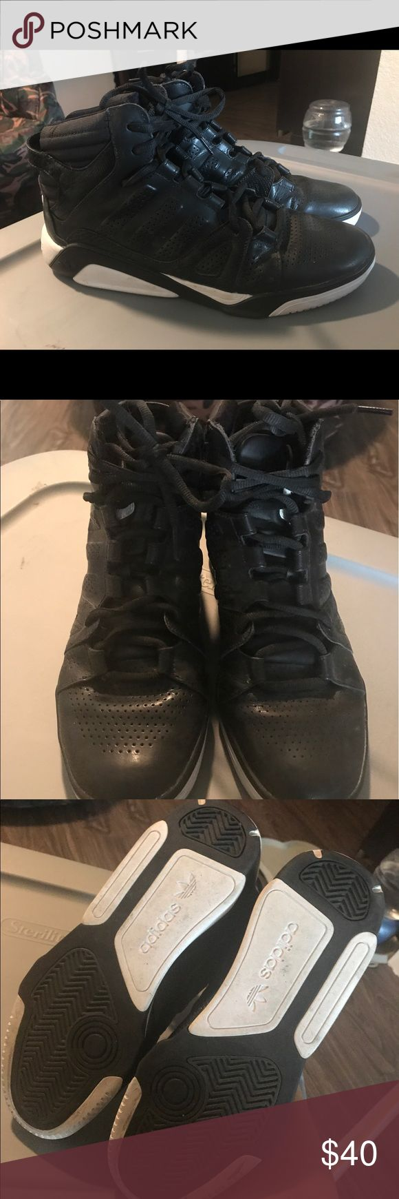 Adidas basketball shoes Size 10, good condition adidas Shoes Athletic Shoes