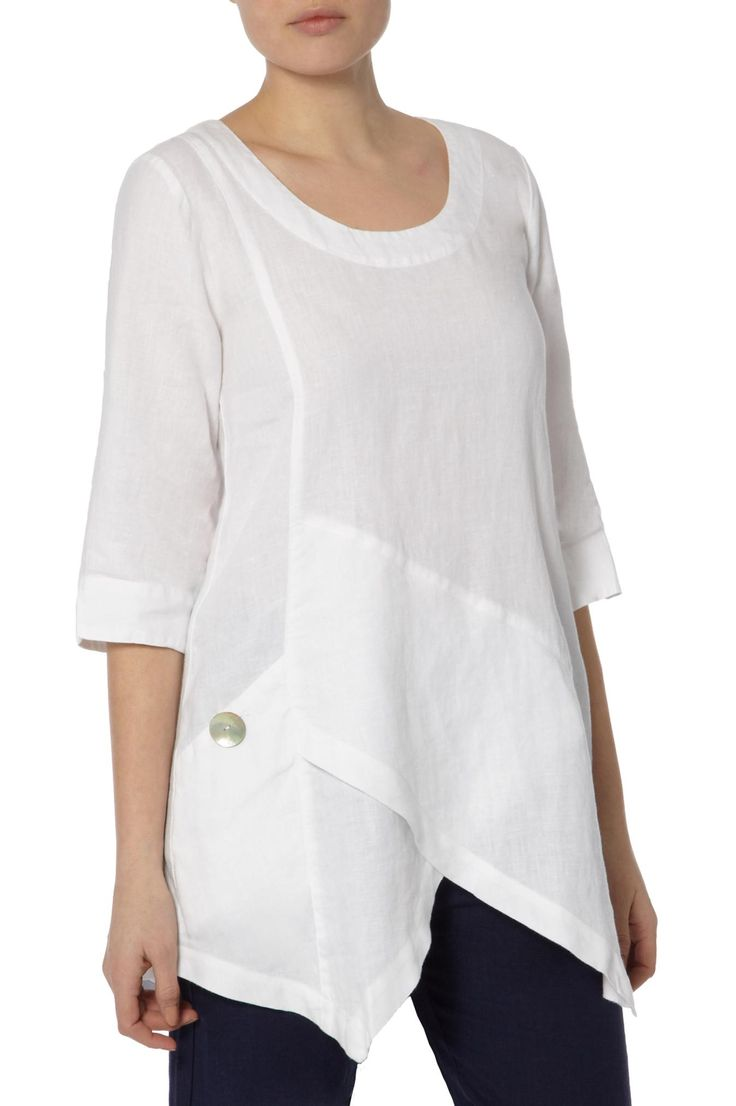 Tops | Ana Asymmetric Linen Tunic at Sahara