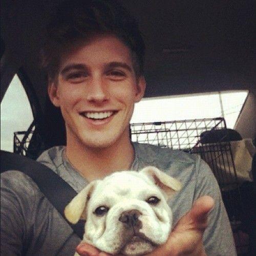 puppy + hott guy = yes Amen honey !