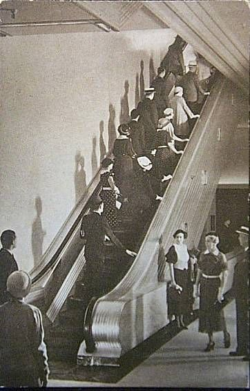 The escalator at Marshall Fields - I used to work at Dayton's in Minneapolis, and the escalator looked the same
