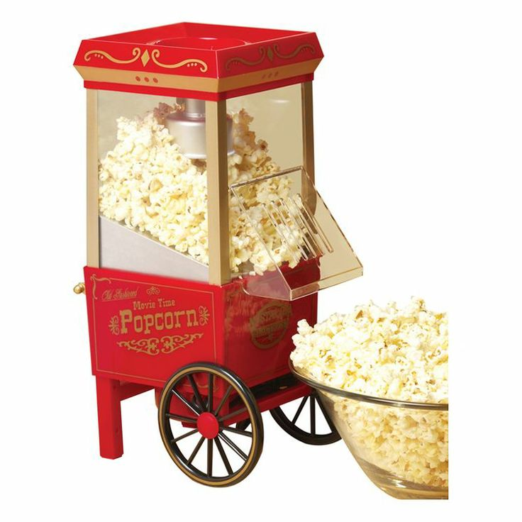 Old Fashioned 3.5 Ounce Movietime Hot Air Popcorn Maker