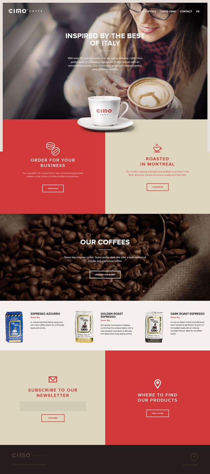 Caffe Cimo - Flat Design