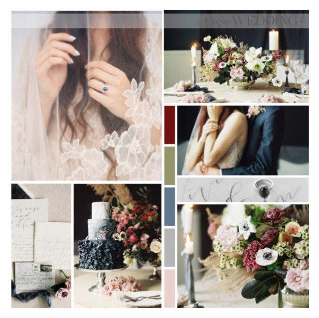 Dark & Romantic Wedding Inspiration 2016 by anna-nemesis on Polyvore featuring art