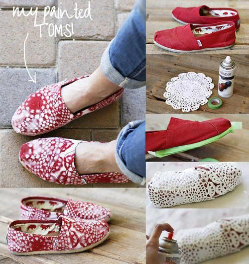 Painted Toms DIY discount toms online
