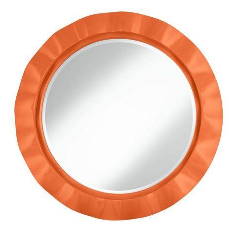 """Um espelho sotaque fará uma declaração em qualquer sala.  Nectarina 32 """"Round Brezza Wall Mirror, US $ 200. Lampsplus.com"""