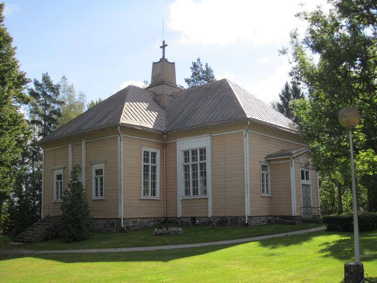 Suomusjärven kirkko v.1847-1849. Arkkitehti E.B. Lohrmann. Tyylisuunta: Klassismi ja Empire